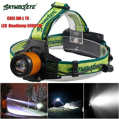 5000LM  XM-L T6 LED Headlamp Headlight Flashlight Head Light Lamp 18650