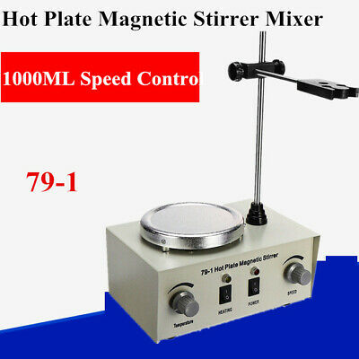 1000ml Adjustable Hotplate Mixer Heat Plate Magnetic Stirrer With Stir Bar 79-1