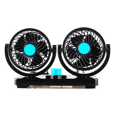 Mini Portable 12V Car Vehicle Truck Cooling Air Fan All Round Adjustable Cooler