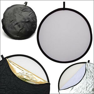 "Light Reflector Collapsible for Pro Photography 5-in-1 43"" 110cm"