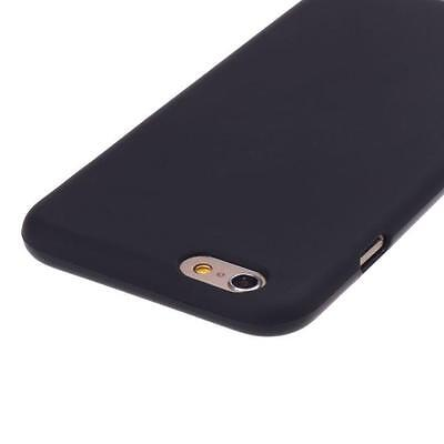 Fashion Black Rubber Soft TPU Case Gel Cover For iPhone 6 / 6S 4.7inch