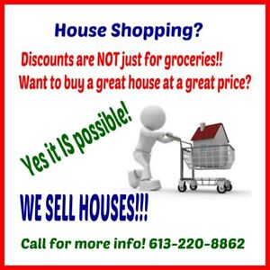 Discounts are NOT just for groceries.....Houses too!!