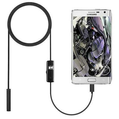 2m Snake Industrial Endoscope Wifi 6led Borescope Inspection Camera For Android