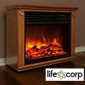 NEW LIFECORP INFRARED FIREPLACE HEATER LARGE ROOM INFRARED FIREPLACE HEATER 104935283