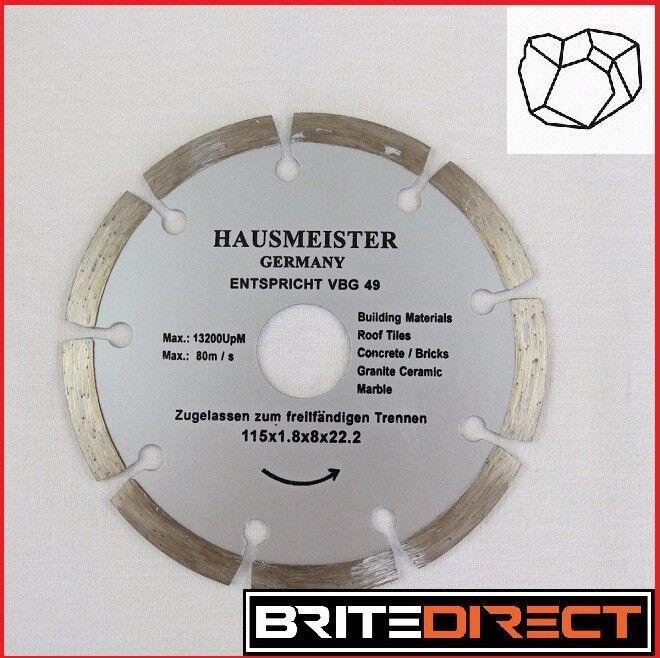 German High Quality Diamond discs 115mm for stone, concrete, clinker, granite building materials