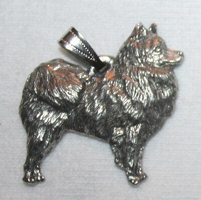 American Eskimo Dog Harris Fine Pewter Pendant USA Made