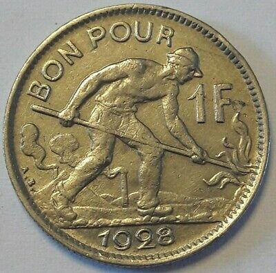 Bon pour 1 franc 1928 LUXEMBOURG 1 FRANC