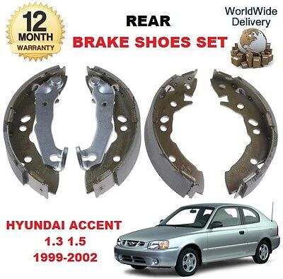 FOR HYUNDAI ACCENT 1.3i 1.5i MVi 1999-2002 NEW REAR BRAKE SHOES SET