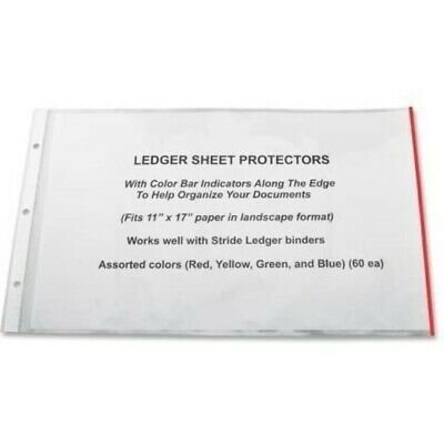 Easyfit Color Bar Sheet Protectors 11 X 17 Landscape Orientation Box Of 60