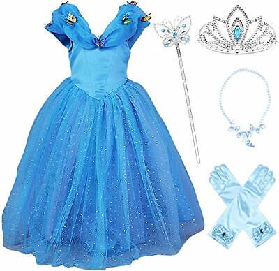 Kid Girl Cinderella Kostüm Prinzessin Dress Up Party - Dress Up Prinzessin Kostüme