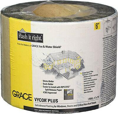 Grace Vycor Plus Self-adhered Flashing Tape For Windows Doors - 6 X 75