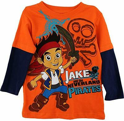 Jake And The Neverland Pirates Shirts (T Shirt Toddler Boys Jake and the Neverland Pirates Long Sleeve Costume Tee)