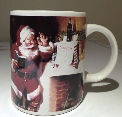 Gibson Coca Cola coffee mug 1997 Coke Christmas Santa
