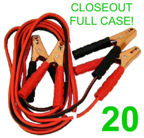 CLOSEOUT FULL CASE! 20 NEW 10 GAUGE 12' JUMPER/BOOSTER CABLES,ATV,200 AMP