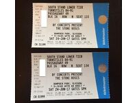 Two Stone Roses Seated Tickets Glasgow 24 June 2017 *** Face Value ***