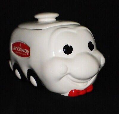 Vintage Archway Smiley White Delivery Truck / Van Cookie Jar Unused