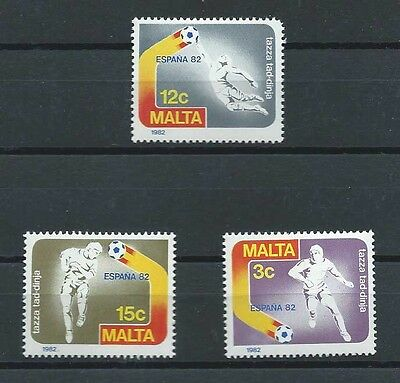 MALTA , 1982 , SOCCER , SPORTS , WORLD CUP , SET OF 2 PERF, MNH ,