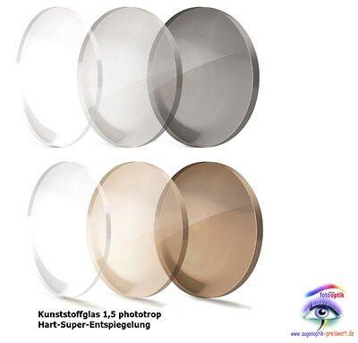 2 Selbsttönende Gläser 1.54/Kunststoff Super-Hart-ET