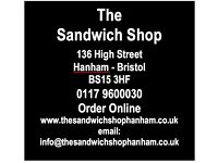 Part-time Catering Staff Required for Sandwich Shop in Hanham