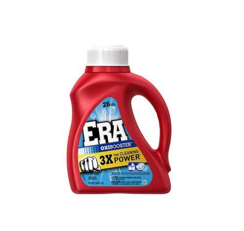 Era 2X Ultra Liquid Detergent, 26 Loads, Oxi Booster 50 oz (Pack of 2)