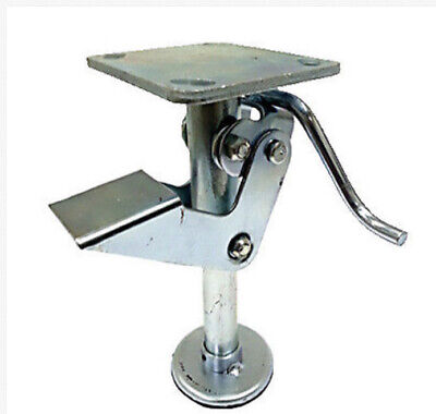 8 Floor Locks Brake With Non-slip Rubber Foot For 8 X 2 Casters - 1 Ea
