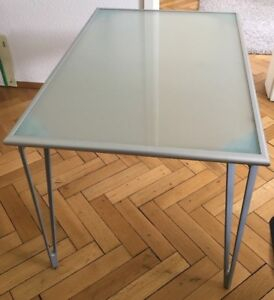 IKEA VIKA LAURI glass desk top
