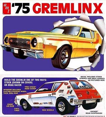 Amt 768   1975 AMC Gremlin (2 'n 1) Stock or Drag plastic model kit  1/25