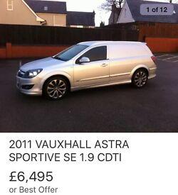 Vauxhall Astra van SE 1.9 cdti 150 bhp