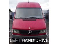 LEFT HAND DRIVE MERCEDES SPRINTER 312D KA 7 seater 2000 extra long wheel base diesel manual