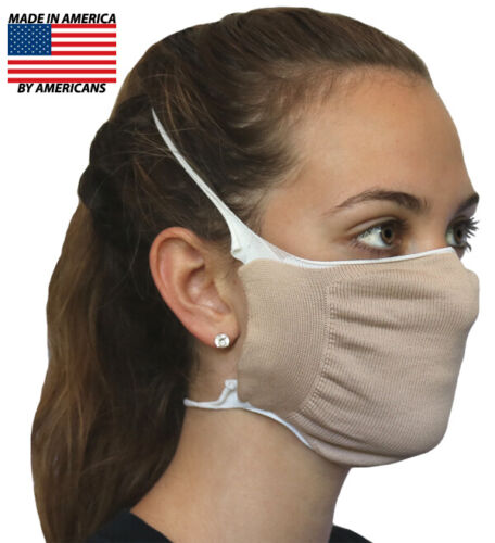 Face Nose Mask Antimicrobial CUPRON Copper Infused Washable Reusable Face Mask