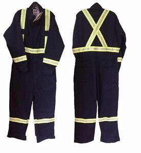 """Geliget Flame Resistant FR Navy Coveralls with 2"""" Tape (BRAND NEW)"""