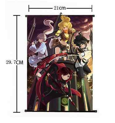 Hot Japan Anime Rwby Cool Ruby Rose Whole Home Decor Poster Wall Scroll 21 30Cm