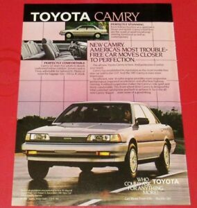 1987 TOYOTA CAMRY RETRO CAR AD - ANONCE PUBLICITE VINTAGE 80S