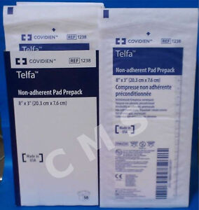 KENDALL TELFA NON-ADHERENT Dressing Gauze Pads Sterile 8