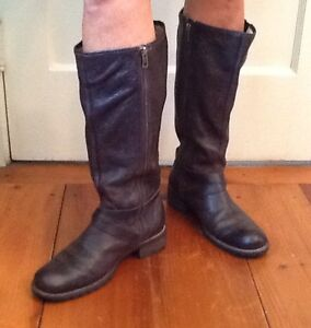 Ll Bean Deerfield Boots Rustic Tall Side Zip Riding Campus