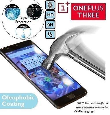 Auténtico Protector de Pantalla Cristal Templado One Plus 3 para OnePlus 3...
