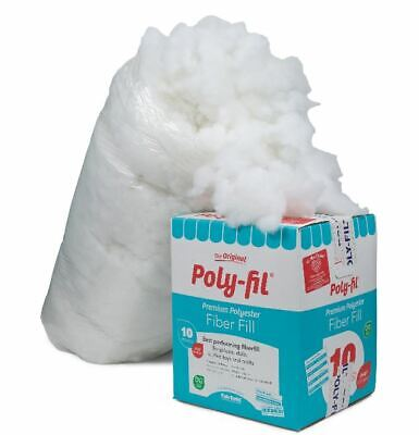 10 lbs Poly-Fil Premium Polyester Fiber White Bag Pillow Stuffing hypoallergenic