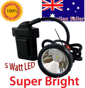Miners Corded 12v LED Cap Light Safety Head Lamp Spotlight Torch 25000 Lux