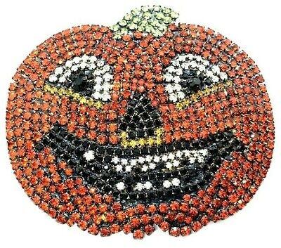 ack The Pumpkin Swarovski Crystal Halloween Brooch Pin! (Jack Von Halloween)