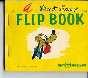 Vintage 1960s Walt Disney PLUTO flipbook Walt Disney World