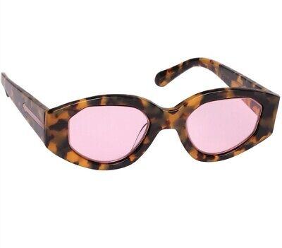 Karen Walker Castaway Sunglasses | Tortoise Shell, Pink Lense| Handmade $350 RRP