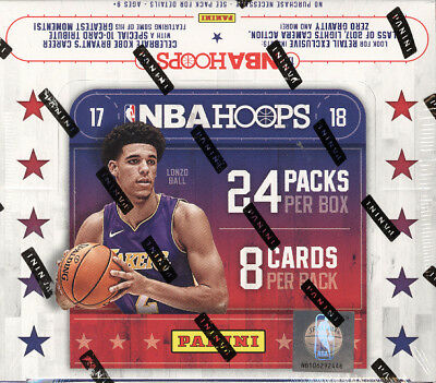 2017/18 Panini Hoops Basketball 24 Pack Box Ball, Fultz, Tatum, Fox, Jackson RC? (Basketball 24 Pack Box)