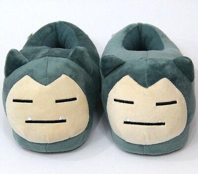 New Anime Pokemon Snorlax Plush Slipper Cartoon Soft Toy Adult Shoes Gift 28CM
