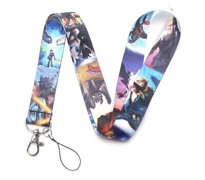 Color Train (New ! How To Train Your Dragon colors movie lanyard Keychain  )