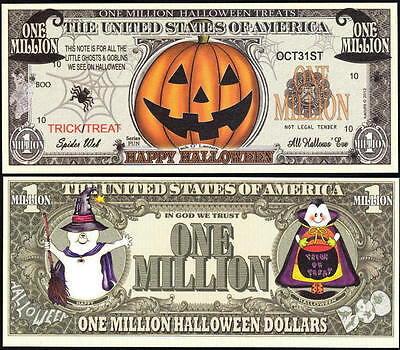 Lot of 500 BILLS- JACK O LANTERN HAPPY HALLOWEEN MILLION DOLLAR NOVELTY BILL](Wholesale Halloween Props)