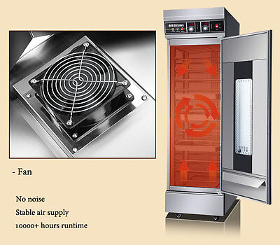 New 13 Trays Dough Heater Proofer Cabinet Commercial Bread Pastry Warmer 110v