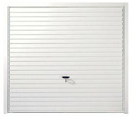 White Retractable Garage door