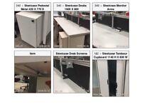 White Steelcase Bench Desk