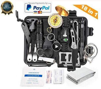 18 in 1 Emergency Survival Kit Professional Tactical Defense