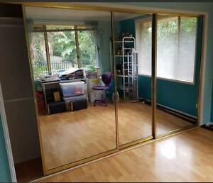 Mirrored sliding wardrobe doors and tracks Cherrybrook Hornsby Area Preview